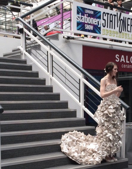 A wedding dress made from paper