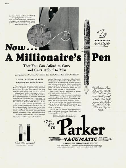 Parker pen ad