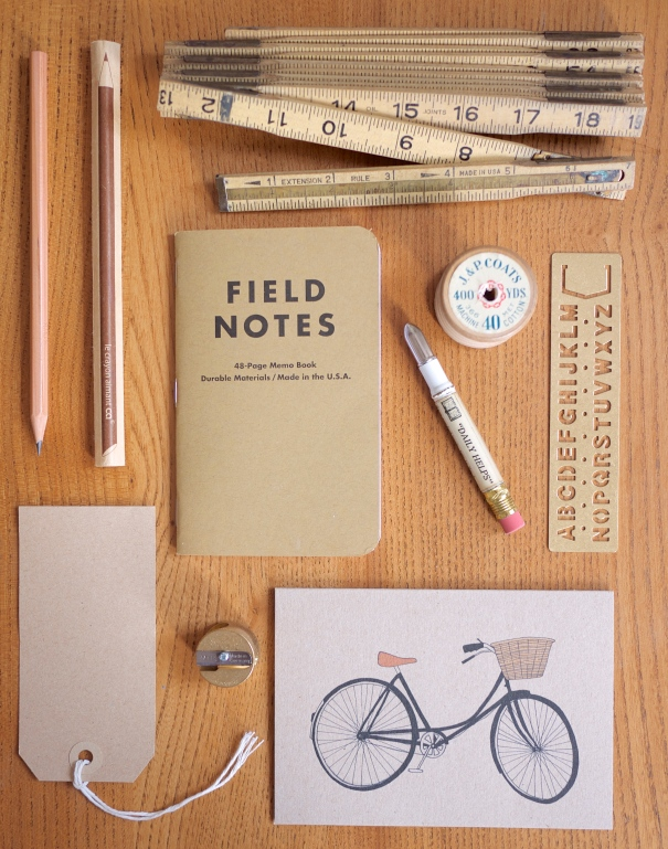 Brown and Brass Stationery